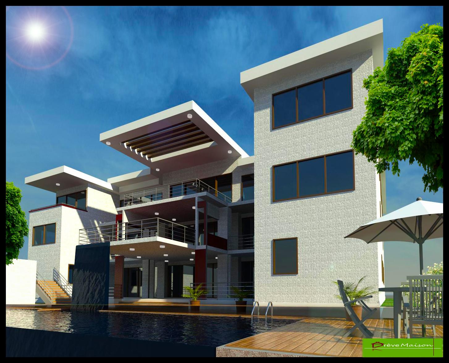 Construction exchange reve maison 3 d modelling residential for Reve maison